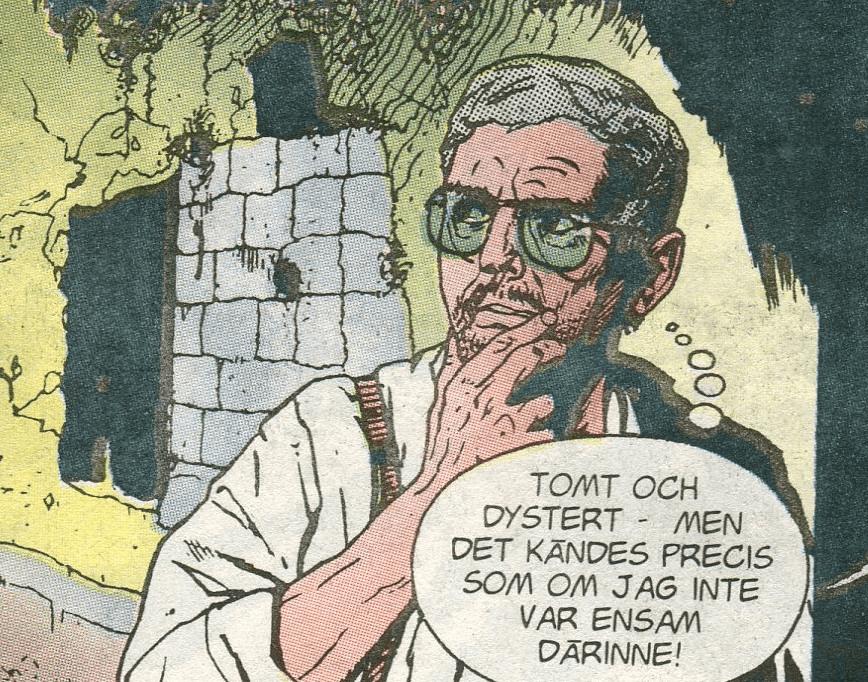 """Rolf porträttar sig själv i sista rutan till """"Dom oskyldiga"""". ©Gohs"""