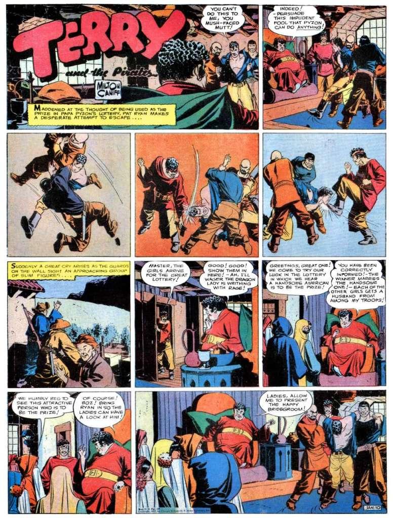 Söndagssidan från 10 januari 1937, varur ingen serieruta användes i Comics. ©CTNYN
