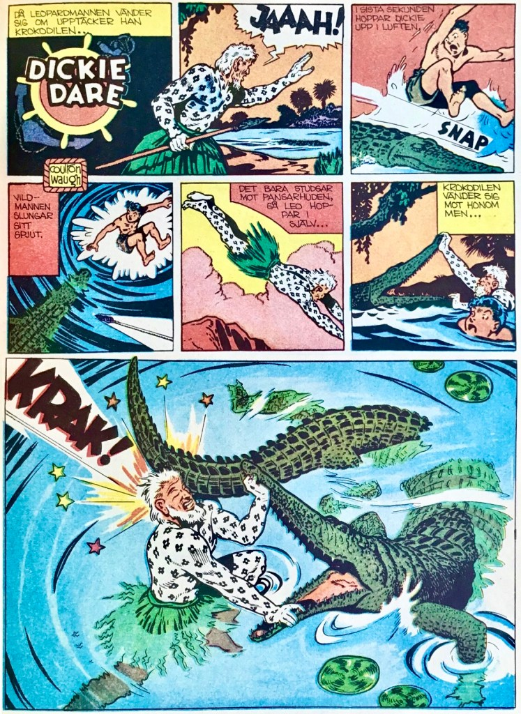 En söndagssida med Dickie Dare ur Comics nr 5. ©AP