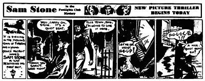 Debuten för Sam Stone, från 13 december, 1948. ©Daily Herald