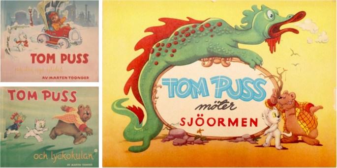 Omslag till julalbum (1950, 1951, 1952). ©Å&Å