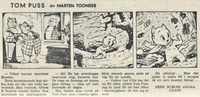 Dagsstripp nr 3279 (ursprungligen från 1957), ur DN 26 juli 1958, inleder det 78:e äventyret. ©STA