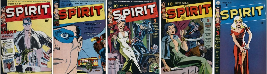 I The Spirit #18-22 ingick Spirit-episoder av Will Eisner. ©Quality