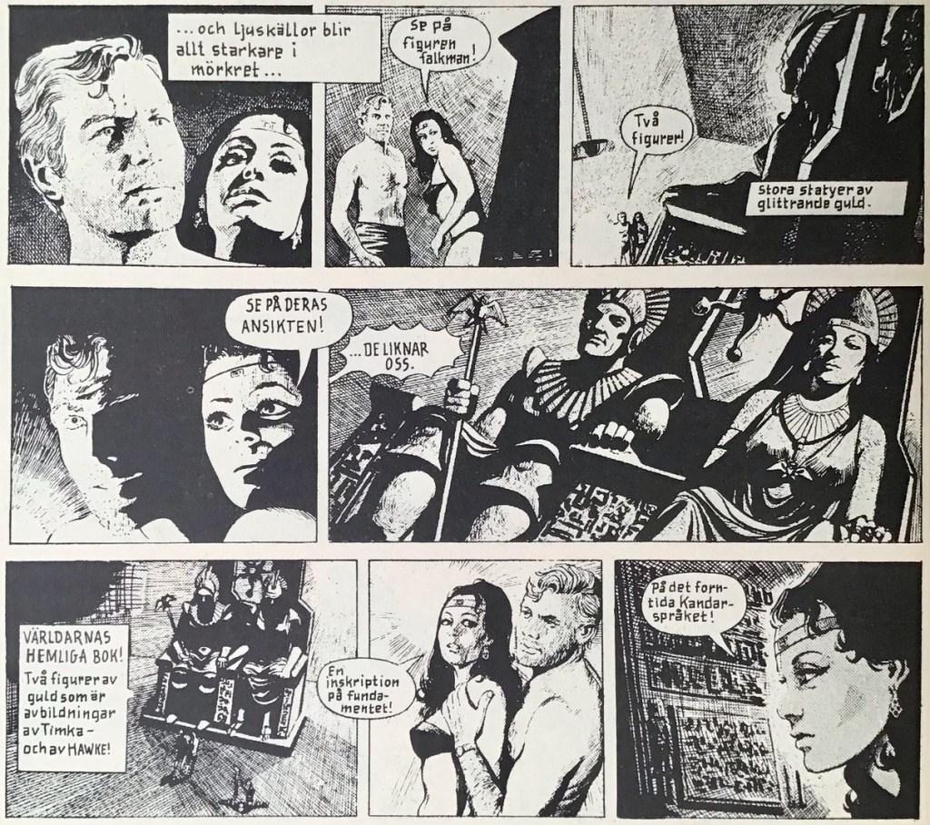 Några dagsstrippar ur Comics nr 8. ©Bulls