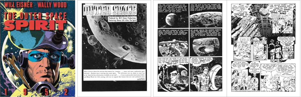 Omslag och inledande sidor av The Outer Space. ©Kitchen Sink/Register&Tribune