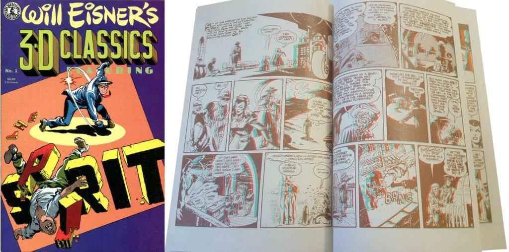 Omslag och ett uppslag ur Will Eisners 3D Classics. ©Kitchen Sink
