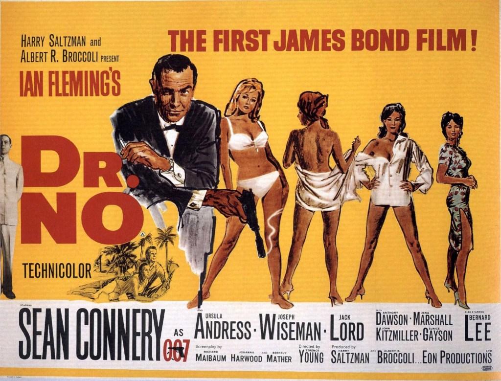 Filmaffisch för Agent 007, med rätt att döda (Doctor No). ©United Artists