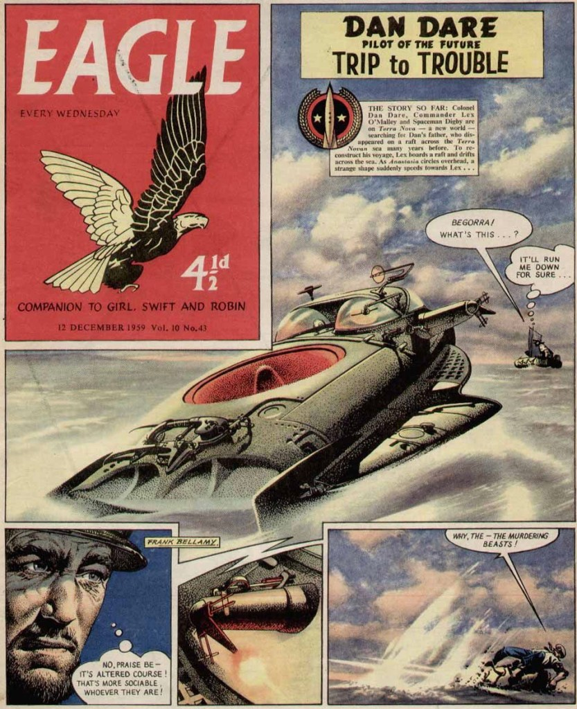 En sida Dan Dare ur Eagle från 12 december 1959. ©Hulton Press