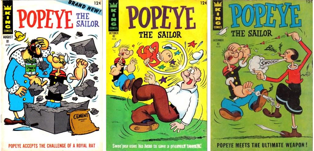 Omslag till Popeye the Sailor #81-83 (1966). ©KFS