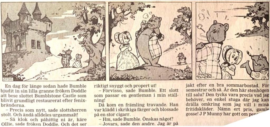 Motsvarande dagsstripp från 26 maj 1993 i ny översättning. ©STA