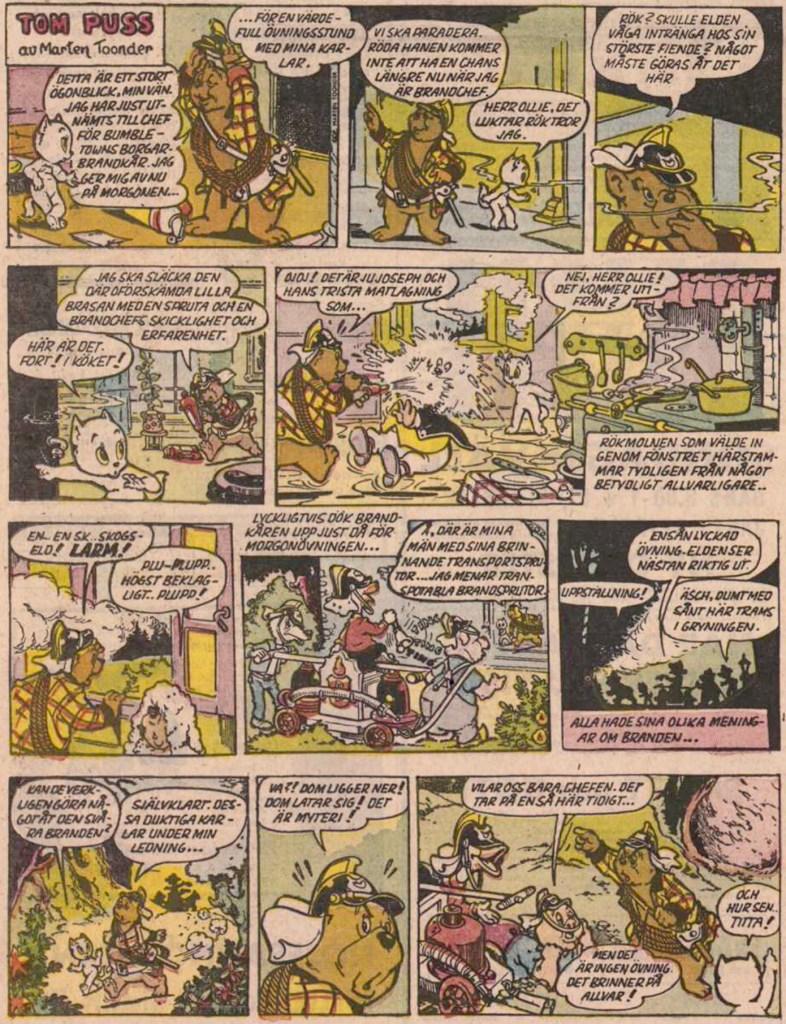Inledande söndagssida ur 23:e episoden, från 10 november 1957. ©STA