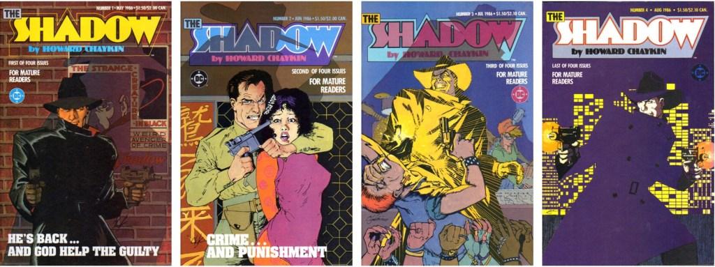 Omslag till The Shadow (1986), i en version för mer vuxna läsare. ©DC