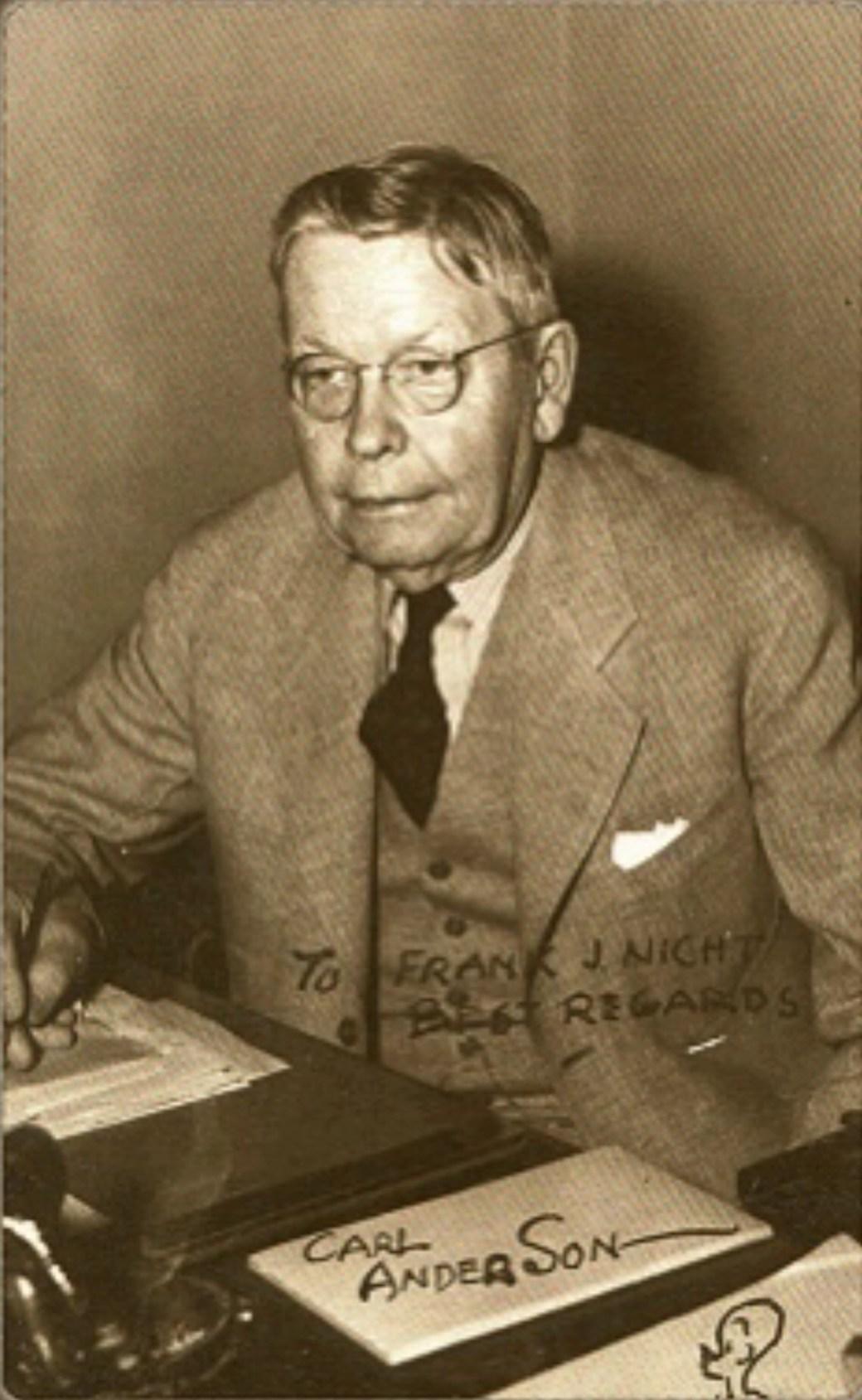 Serietecknaren Carl Anderson, skaparen av Hasse (Henry).