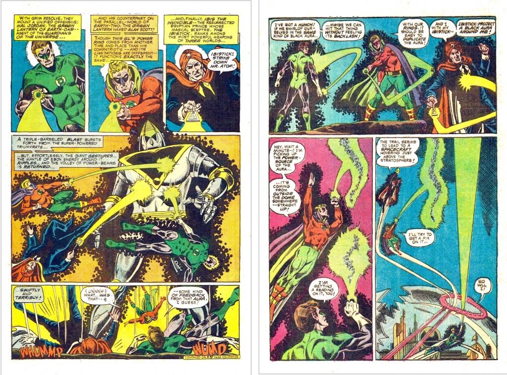 Ett par sidor ur Ibis Justice League of America #137. ©DC