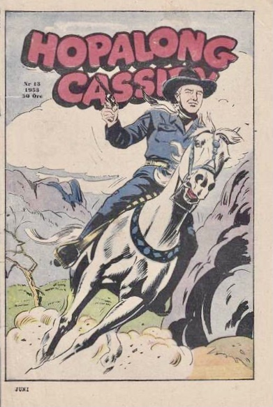 Omslag till Hopalong Cassidy nr 13, 1953. ©Serieförlaget