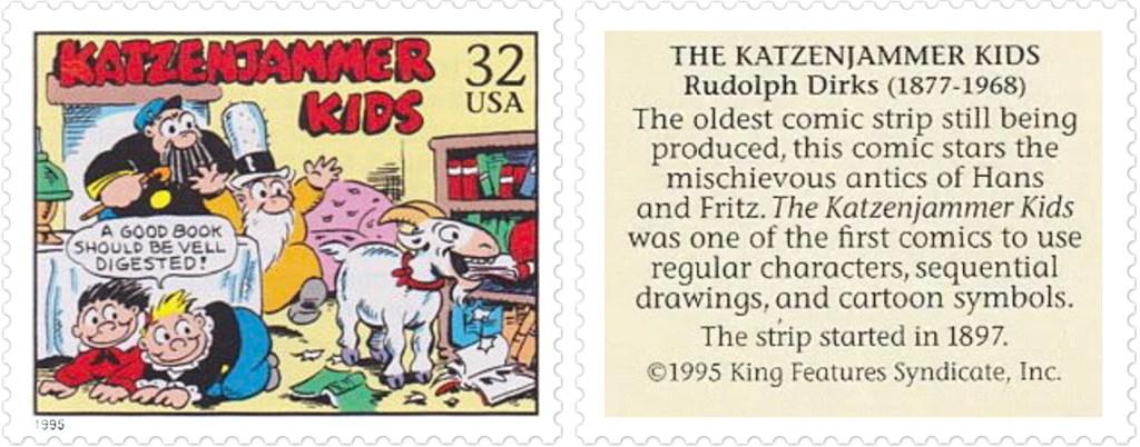 Comic Strip Classics-frimärket Med The Katzenjammer Kids av Rudolph Dirks (1877-1968). ©KFS