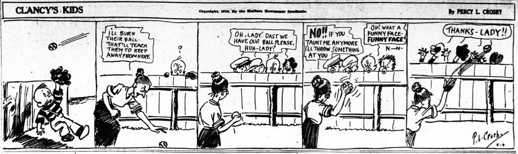 En dagsstripp med Clancy's Kids från 9 maj 1919.
