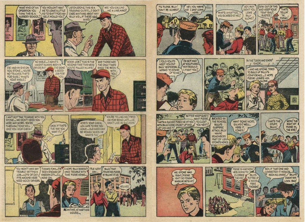 Efterföljande sidorna 10-11 ur The Story of Martha Wayne #1 (1956). ©Argo/NEA