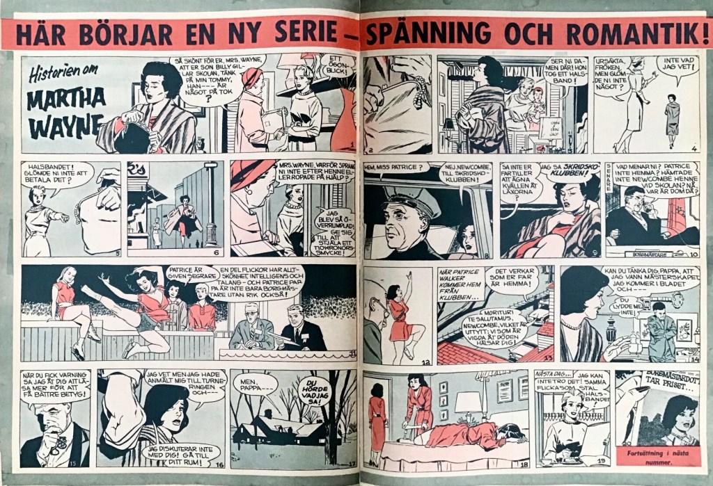 Inledande premiäruppslag ur Året Runt nr 42, 1959. ©PIB