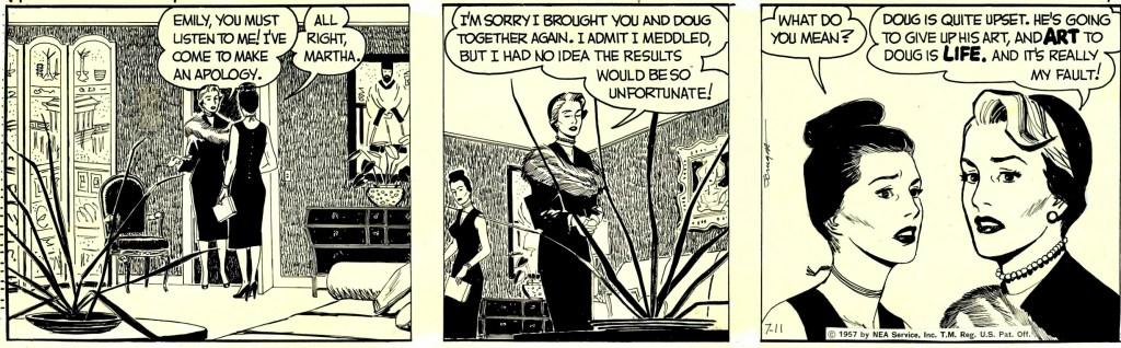 Original,till dagsstrippen från 11 juli 1957. ©NEA