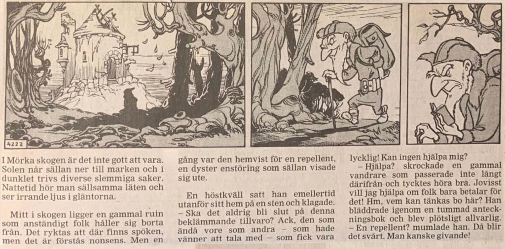 Motsvarande dagsstripp från 3 september 1994 i ny översättning. ©STA