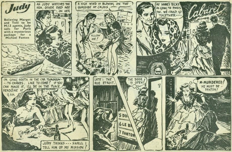En stripp med Judy, som vanligen blev publicerad som halvsida. ©Titbits