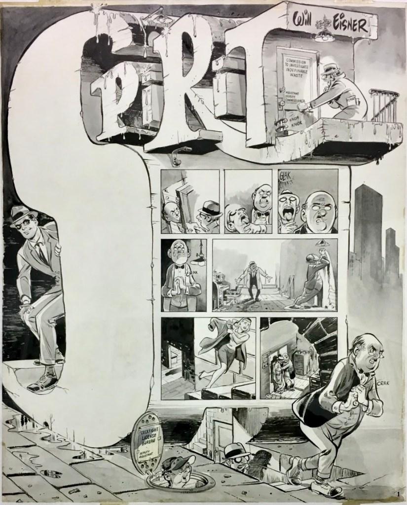 Original till inledande sida till The Spirit ur The New York Herald Tribune från 9 januari 1966.