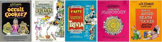 Omslag till ett antal skämtsamma guideböcker (1984-75). ©Poorhouse
