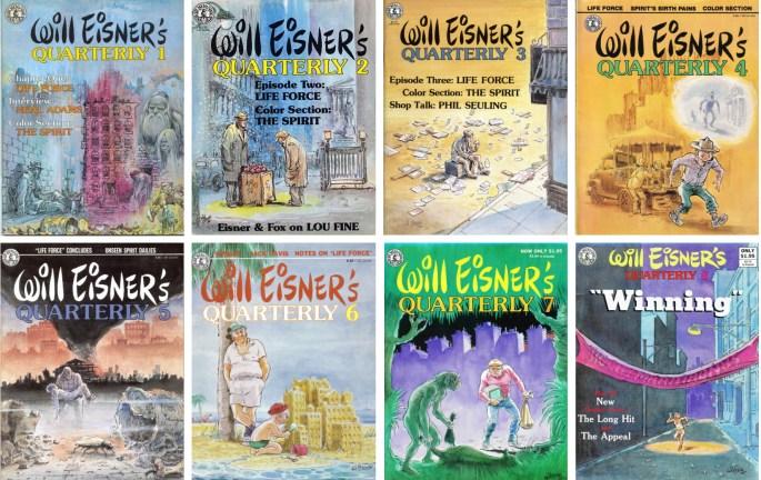 Will Eisner's Quarterly utkom med åtta nummer (1983-85) och innehöll nytecknat material, som Life Force, och återtryck från The Spirit Section. ©Kitchen Sink