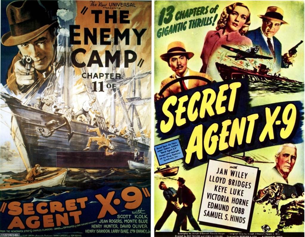 Filmaffischer från filmserierna 1937 och 1945. ©Universal