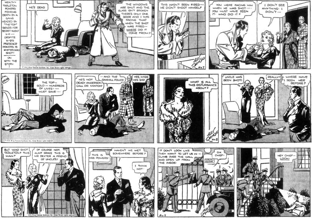 Tre dagsstrippar från 29 januari till till 3 februari 1934. ©KFS
