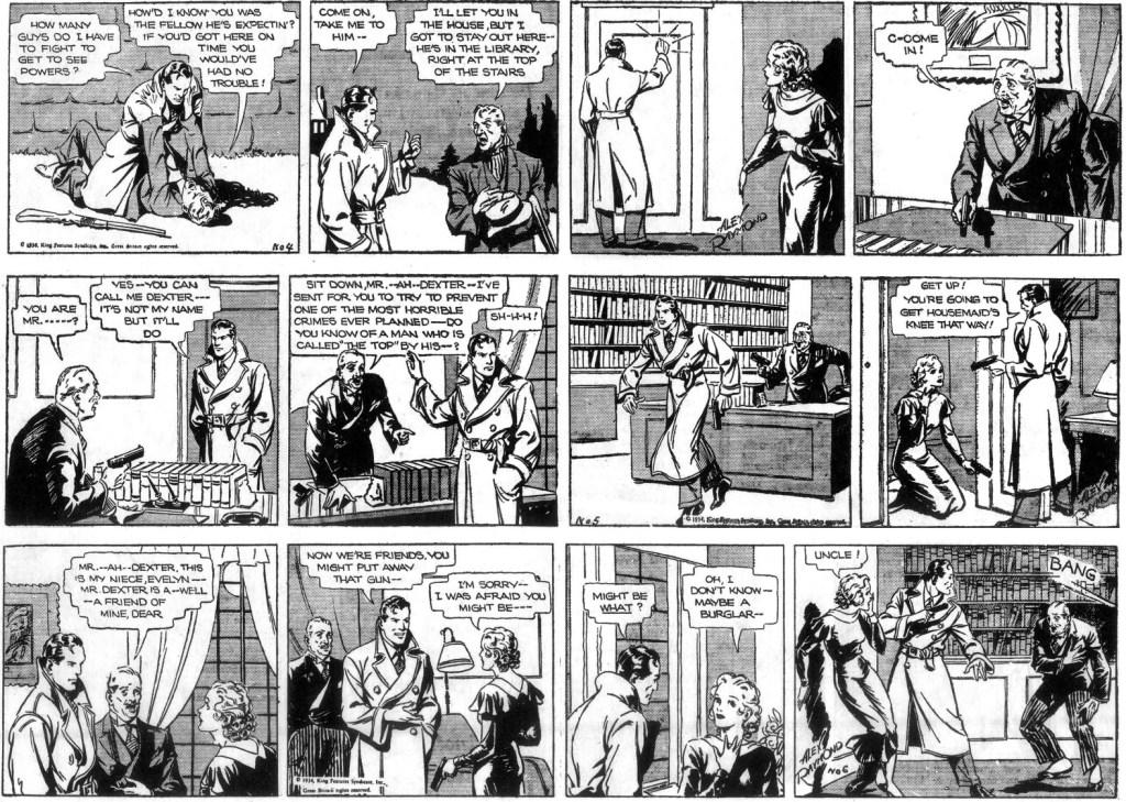 De tre följande dagsstripparna från 25-27 januari 1934. ©KFS