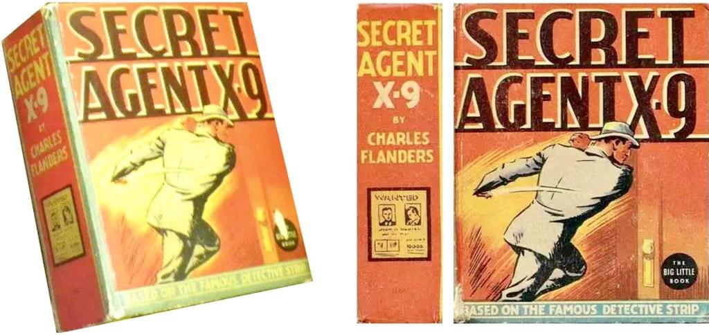 Omslag till Secret Agent X-9 som Big Little Book (1936). ©Whitman