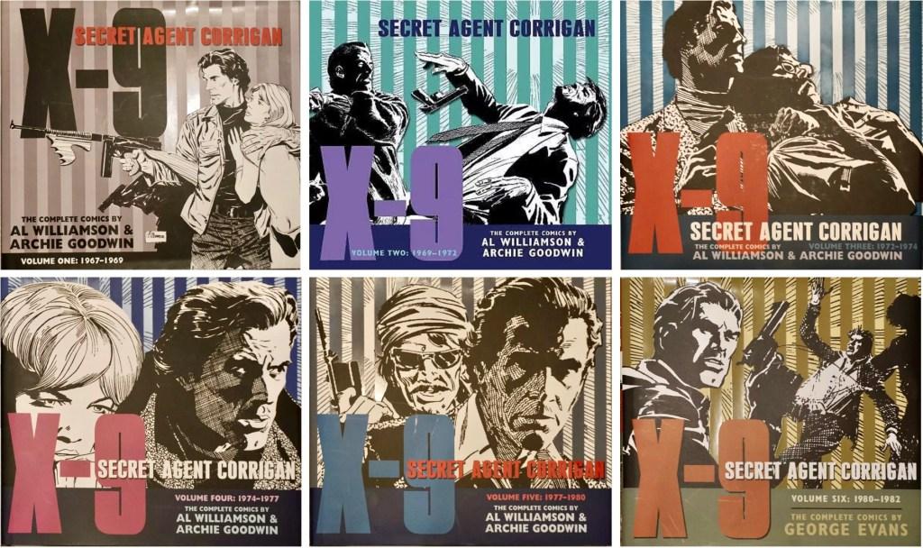 Omslag till sex utgåvor av Secret Agent Corrigan (2010-15). ©IDW
