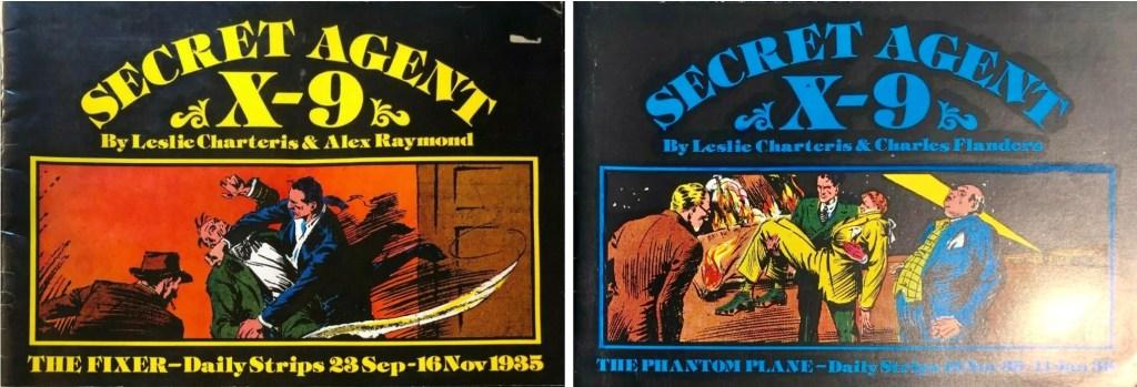 Omslag till de två volymerna med Secret Agent X-9 (c:a 1980). ©Pacifics