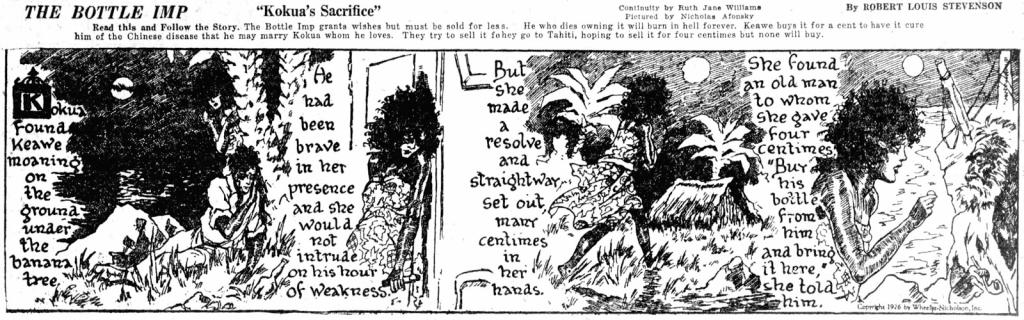 Great Mystery and Adventure Series: The Bottle Imp, av Williams och Afonsky, från 3 juli 1926. ©Wheeler-Nicholson