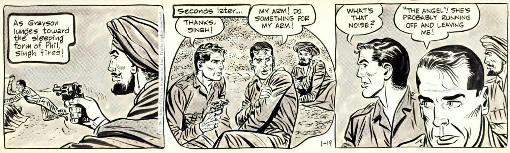 Original till en dagsstripp tecknad av Paul Norris, från 19 januari 1960.©KFS