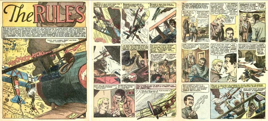 Inledande sidor till serien av Evans ur Aces High #3 (1955). ©EC