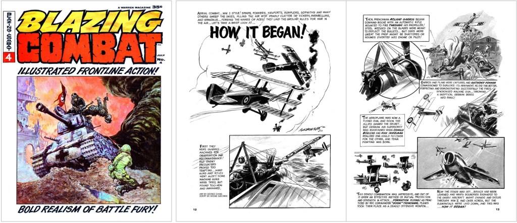 En kort flygserie av Archie Goodwin (manus) och George Evans (teckningar) ur Blazing Combat #4 (1966). ©Warren