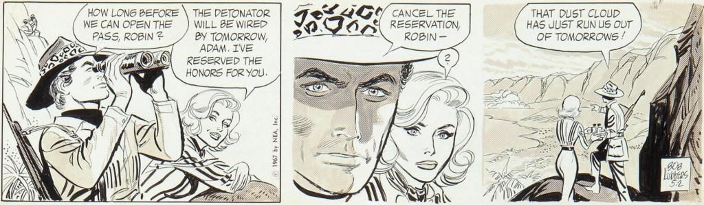 Original till en dagsstripp med Robin Malone, från 2 maj 1967. ©NEA