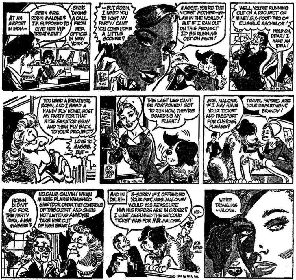 De inledande tre dagsstripparna från 20-22 mars 1967. ©NEA