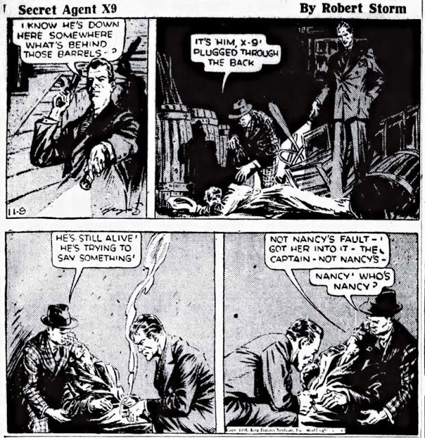Den tredje dagsstrippen ur episoden The Shoe of Cinderella, från 9 november 1938. ©KFS