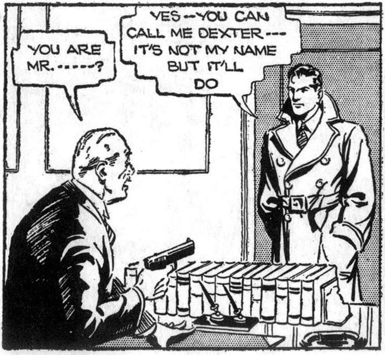 Secret Agent X-9 presenterar sig som Dexter, den 26 januari 1934. ©KFS