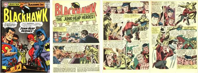 Omslag och inledande sidor ur Blackhawk #228 (1967) ©DC/National