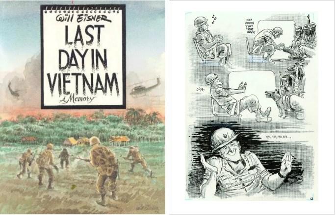 Omslag och en sida ur Last Day in Vietnam (1991). ©Dark Horse/Eisner