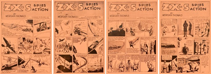 ZX-5 Spies in Action ur Jumbo Comics #1 (1938). ©Fiction House/Real Adventures
