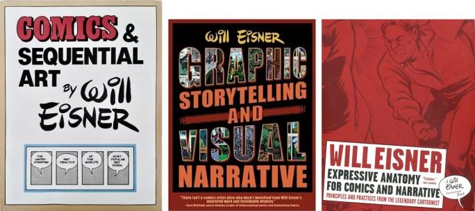 Teoriböcker om serier och sekvenserings av Eisner. ©Poorhouse/Norton/Eisner