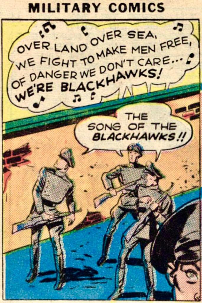 Serieruta ur Military Comics #1 (1941). ©Quality/Comic Magazines