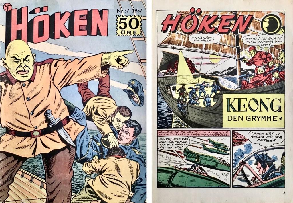 Omslag till Höken nr 34, 1957. ©Formatic