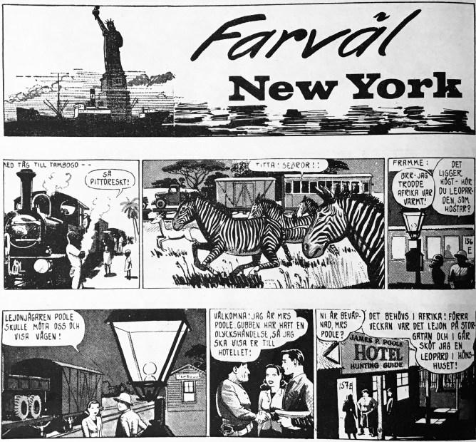 Inledningen på episoden Farväl New York. ©Bulls